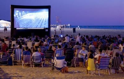 cine verano playa