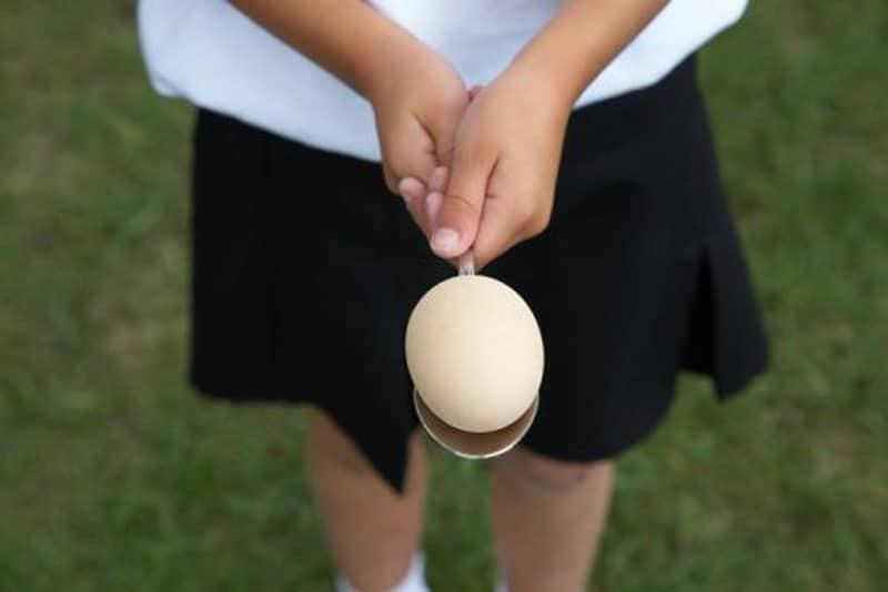 Carrera De Cucharas Y Huevos