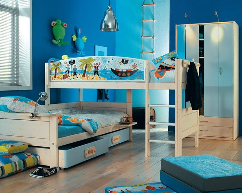 habitaciones infantiles con literas. Black Bedroom Furniture Sets. Home Design Ideas