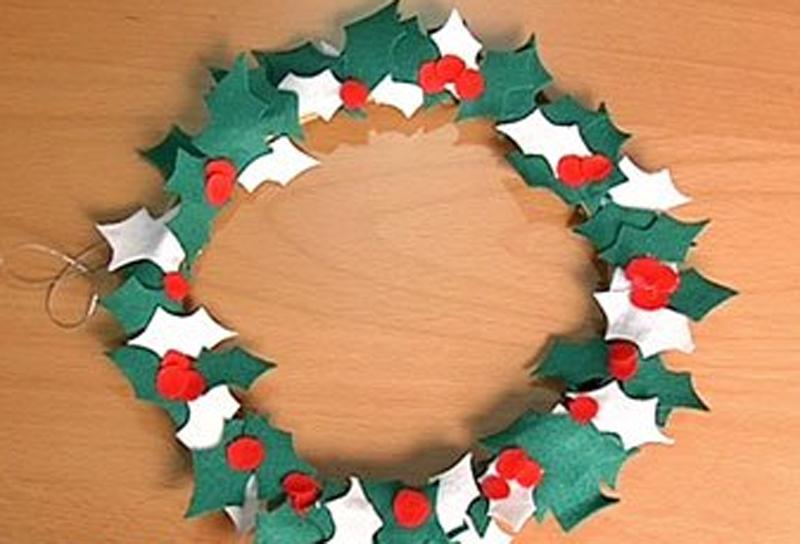 Manualidades de navidad - Corona de navidad