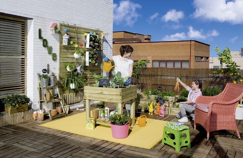 Ideas con vida para jardines y terrazas en tapiner a - Huerto urbano leroy ...