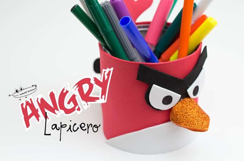 manualidades de angry birds portalapices