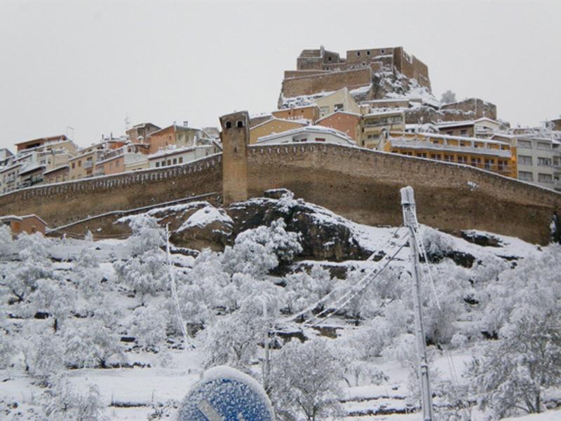 ver la nieve cerca de Valencia - Morella
