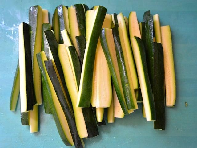 2 cut zucchini