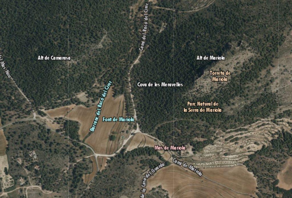 Mapa Sierra Mariola