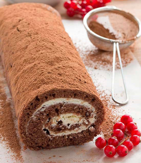 Brazo de gitano de chocolate