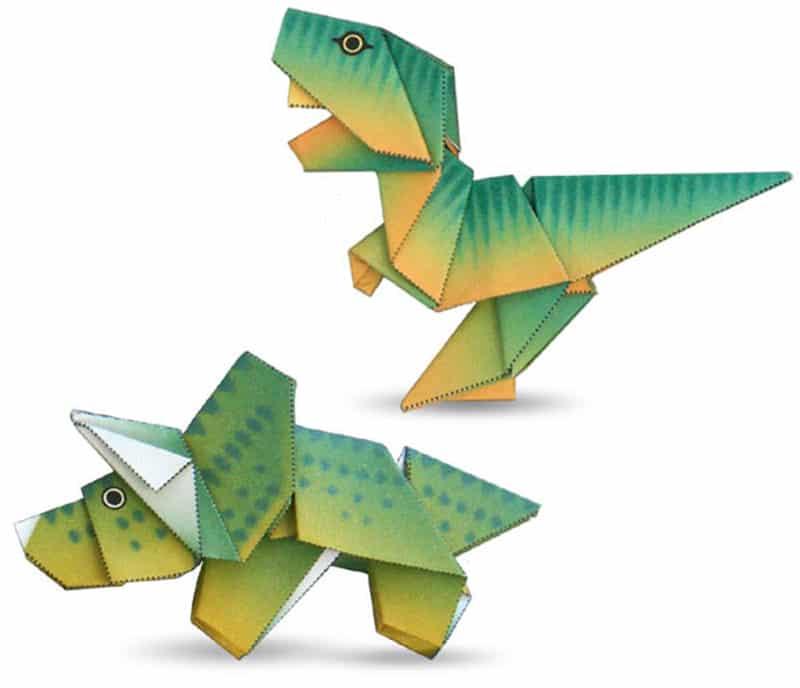 papiroflexia fácil para niños origami dinosaurios