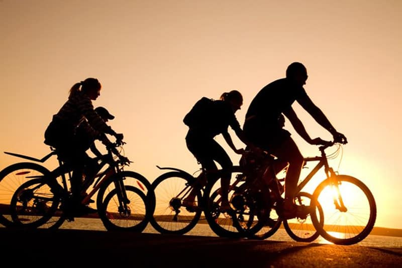fin de semana en Valencia con niños - familia en bici