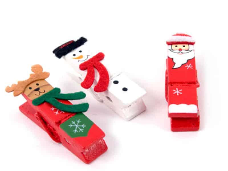 Manualidades de navidad - pinzas para decorar