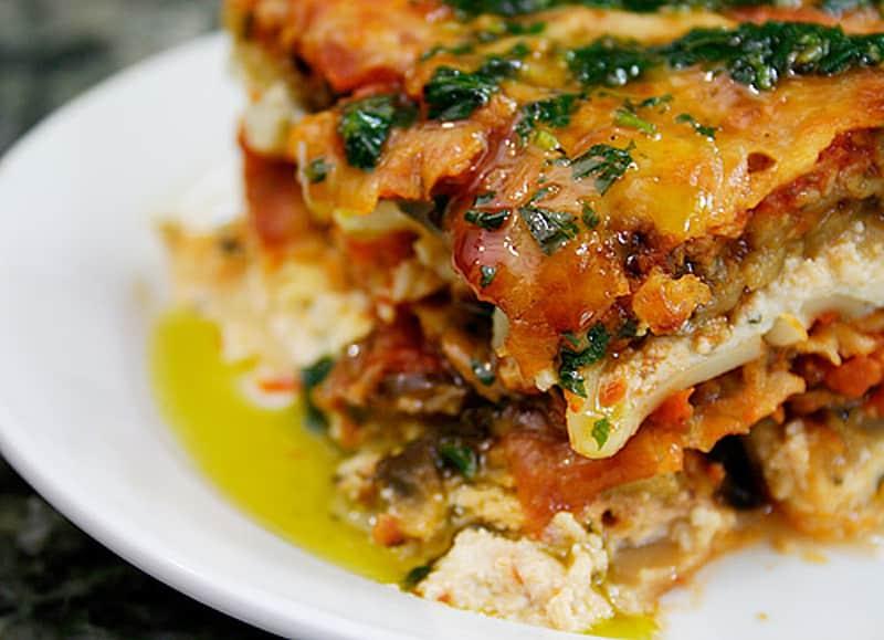 Recetas sin gluten para niños - lasana-verduras
