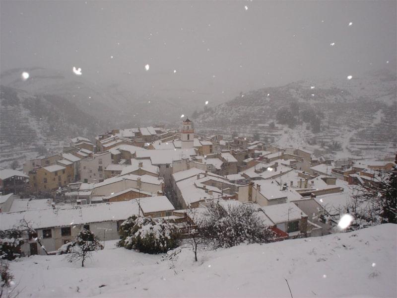 ver la nieve cerca de Valencia - Interior de Alicnate