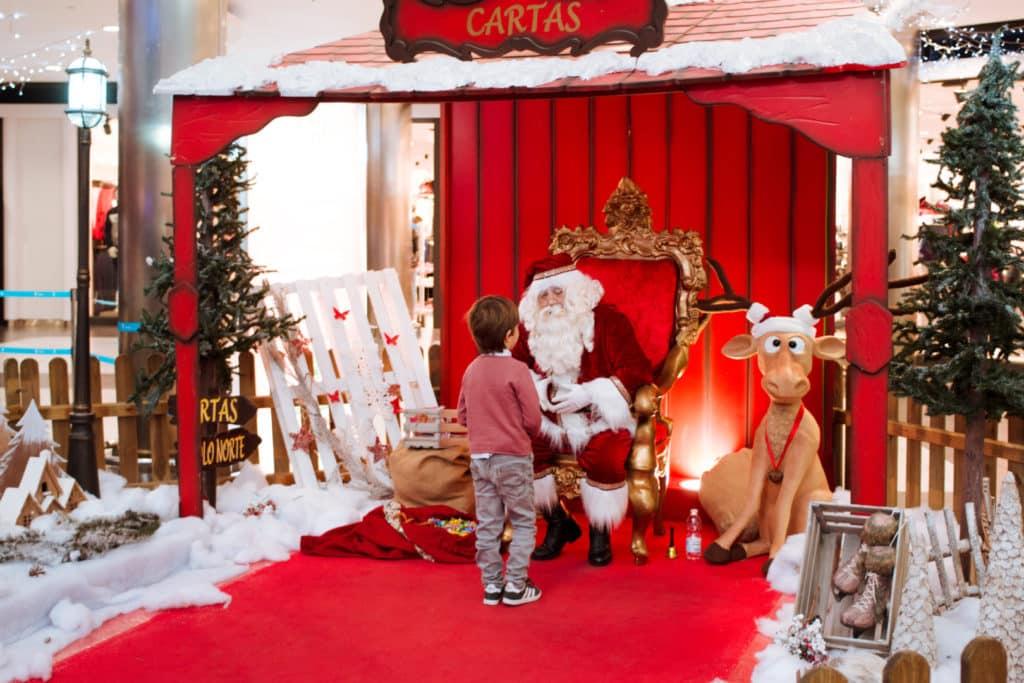 Papá Noel en El Centro Comercial El Saler