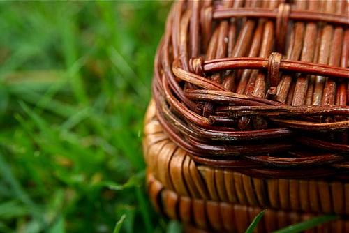 cesta mimbre picnic campo