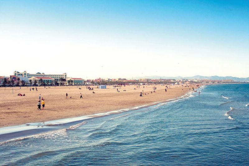 Playa de la Malvarrosa y Las Arenas