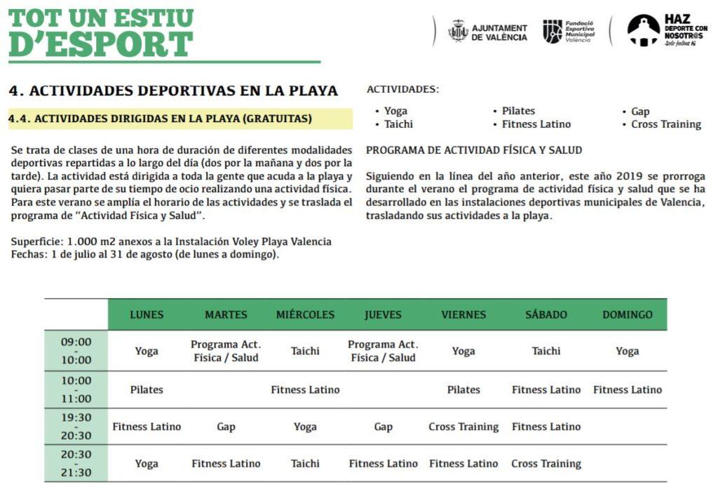 Deportes Playas Valencia
