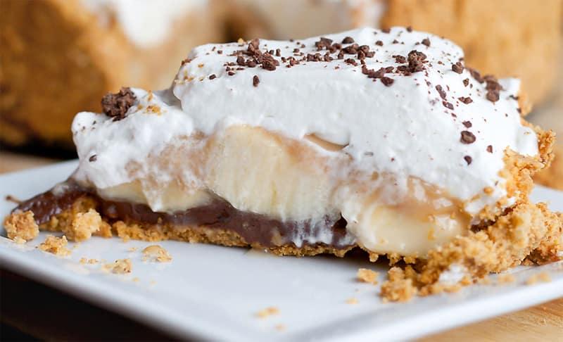 Banoffe Pie o Tarta de plátano y caramelo