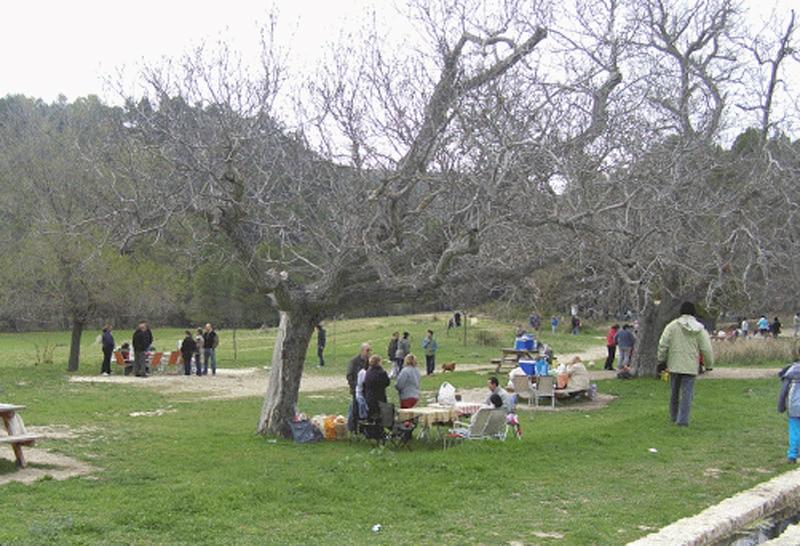 Área recreativa de la Font de Mariola en Bocairent