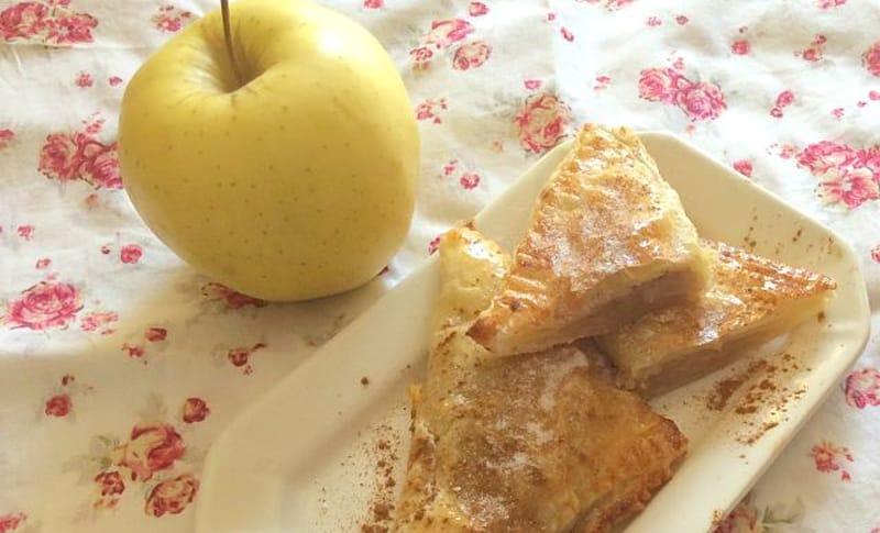 Hojaldre de manzana con frutos secos