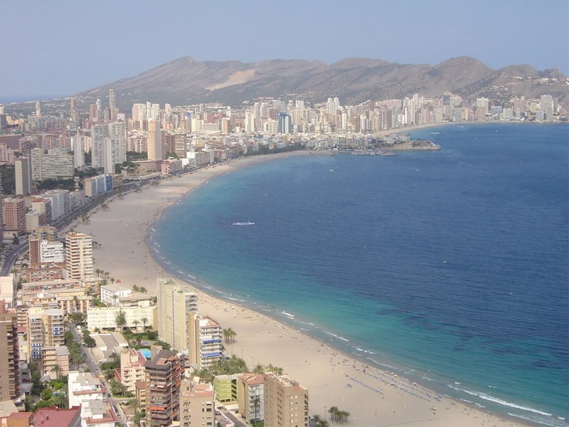 vista aérea playa levante