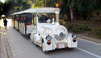 El tren turístico por los Jardines del Turia