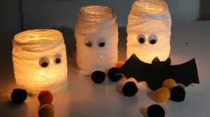 velas momia manualidades decoración halloween