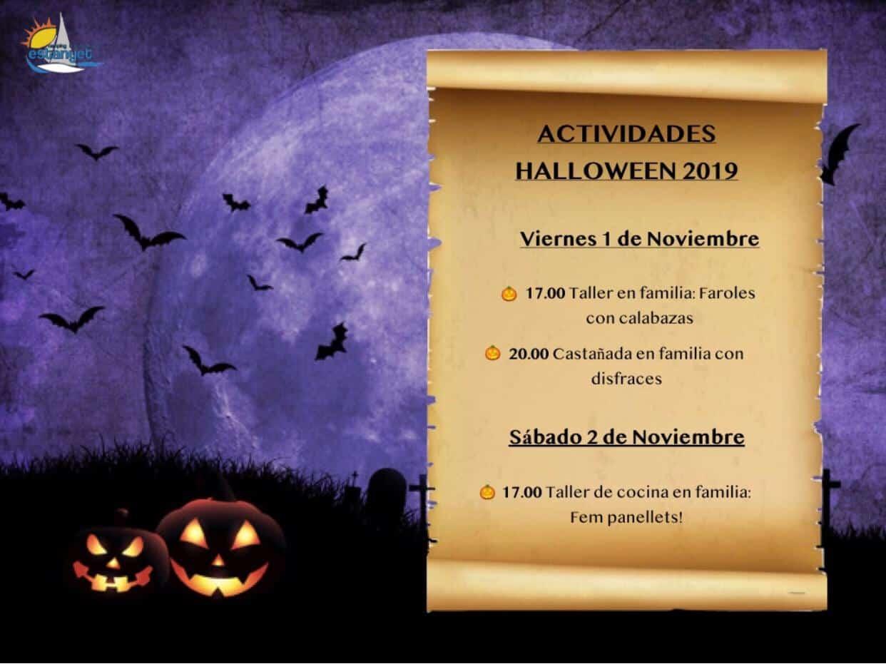 cartel halloween estanyet