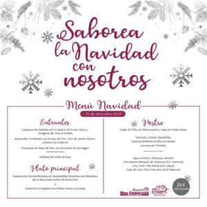 Menú Navidad Resort Mas Camarena