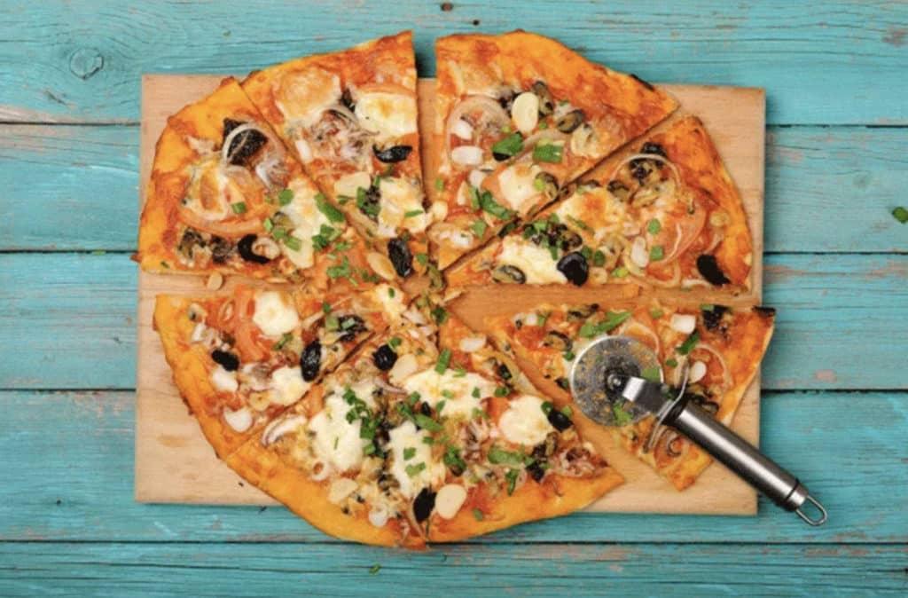 pizza casera con niños - pizza zanahoria
