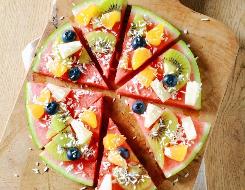 pizza casera con niños - pizza de frutas