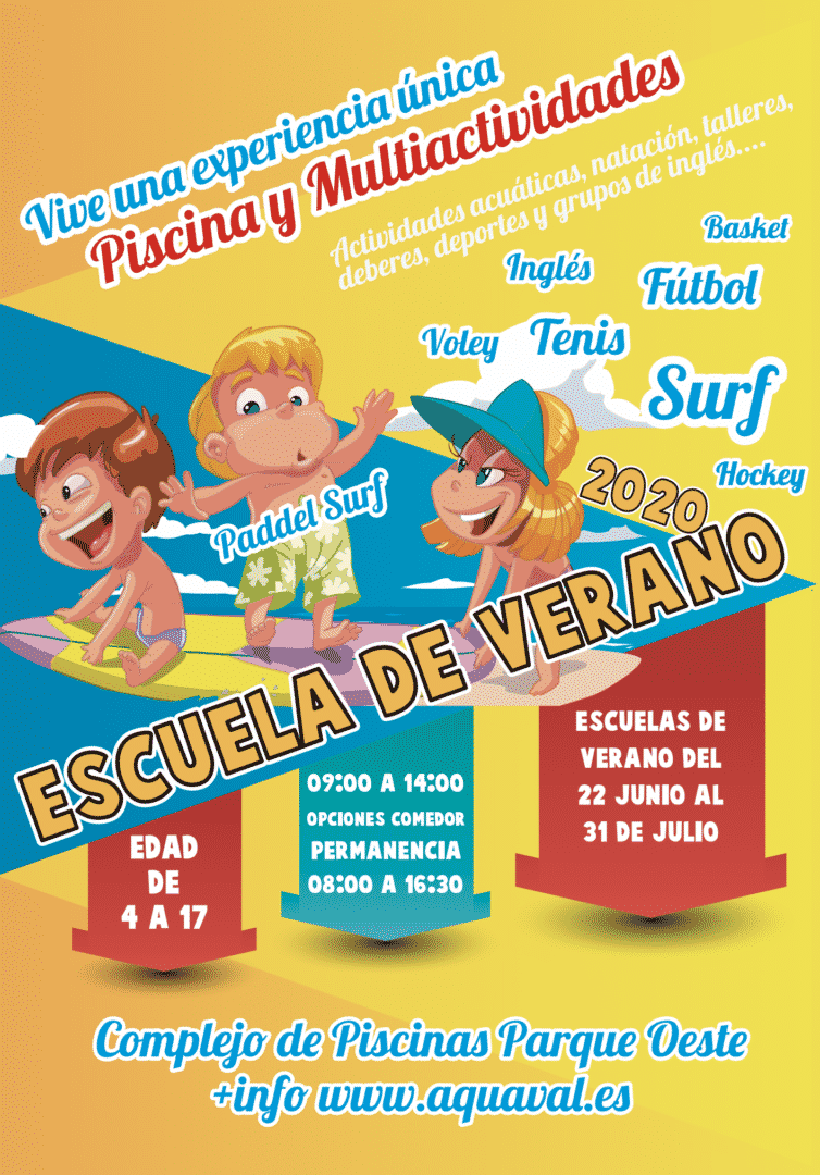 Escuela de Verano en las Piscinas de Valencia