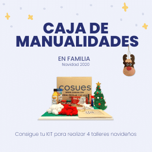 caja manualidades de navidad