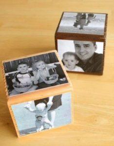día del padre - cubos con fotos